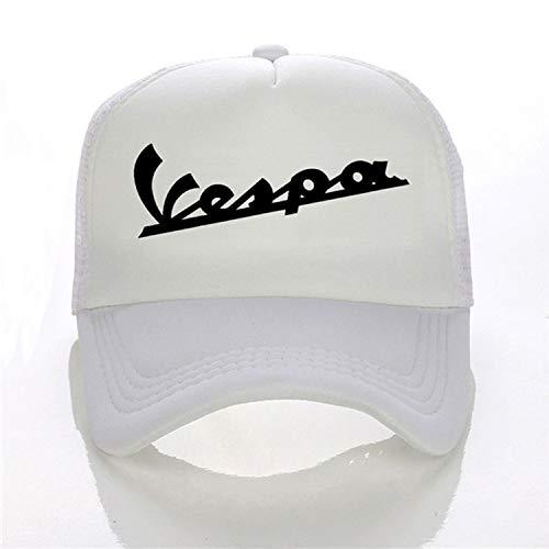 Eric Carl Vespa Moto Baseball Cap Men Women Summer Visor Letter Fashion Summer Trucker Cap,White