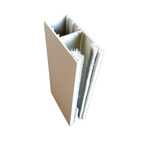 Fü hrungsschiene fü r Vorbaurollladen und Nachrü strollladen mit Bü rstenkeder Weiß , Lä nge 200 cm brr exactus GmbH PP53/02/200