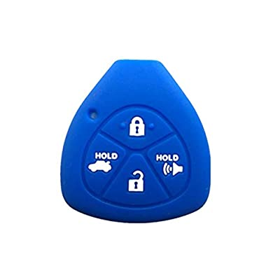 KAWIHEN Silicone Keyless Entry Smart Remote Key Fob Cover Protector For 2007 2008 2009 2010 2011 Toyota Camry Avalon Corolla Matrix RAV4 Venza Yaris Yaris HYQ12BBY GQ4-29T 89070-06231 1551A-12BBY: Automotive