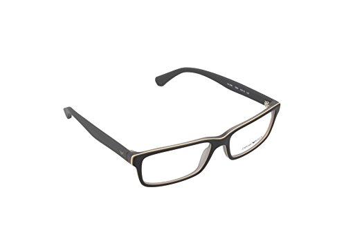 Armani EA3061 Eyeglass Frames 5390-55 - Top Black/matte Grey - Price Emporio Glasses Armani
