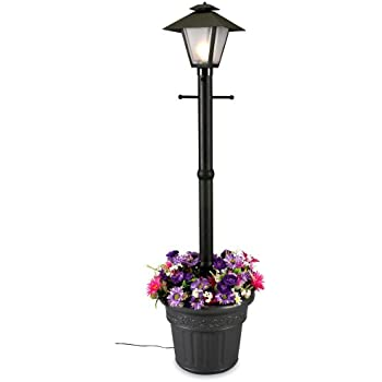 Patio Living Concepts 66000 Cape Cod 80 Inch 100 Watt Planter Lamp, Black