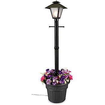 Captivating Patio Living Concepts 66000 Cape Cod 80 Inch 100 Watt Planter Lamp, Black