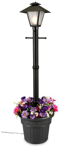 Patio Living Concepts 66000 Cape Cod 80-Inch 100-Watt Planter Lamp, - Planter Resin Electric