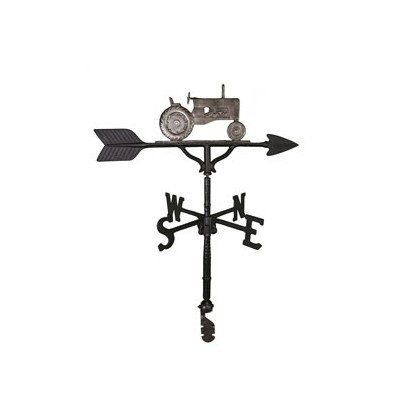 Montague Metal Products 32-Inch Weathervane with Swedish Iron Tractor Ornament by Montague Metal Products