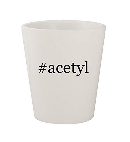 #acetyl - Ceramic White Hashtag 1.5oz Shot Glass