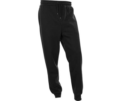 Jordan Jumpman Air Men's Fleece Pants (Black/White, M) (Best Pants For Jordans)
