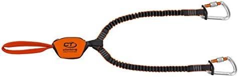 Climbing Technology Classic-k Slider, Set Ferrata Unisex – Erwachsene, Orange/Grau, Einheitsgröße