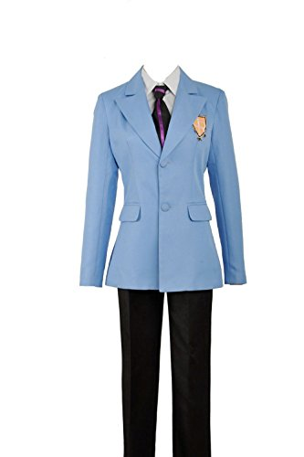 Yejue Ouran High School Host Club School Uniform Haruhi Kyoya Hikaru Takashi Outfit Unisex Cosplay Costume(Female X-Small,Full (Host Club Cosplay Costumes)