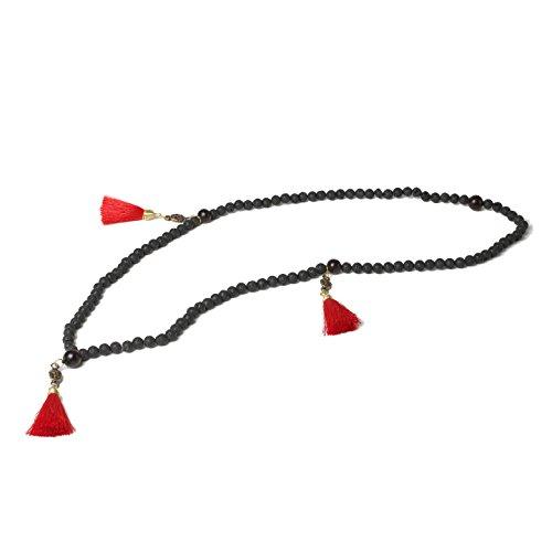 Lava Rock Stone Buddhist 108 Prayer Beads Tibetan Mala Bracelet Necklace. Healing (Trifari Hematite Earrings)