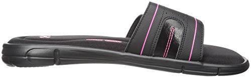 Under Armour womens Ignite VIII Slide Sandal, Black (006)/Cerise, 11 (Women Shoes Size Chart)