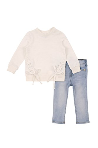 7 For All Mankind Toddler Girls' Knit Top and Pant Set (More Styles Available), G3280-White, (7 For All Mankind Tops)