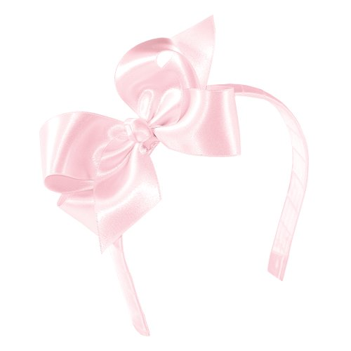 Wee Ones Baby Girls' Medium Satin Hair Bow w/Knot Wrap on Matching 1/2