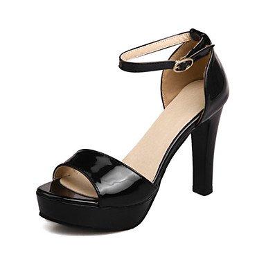 LvYuan Mujer-Tacón Robusto-Otro Zapatos del club Confort-Sandalias-Boda Oficina y Trabajo Vestido Informal Fiesta y Noche-Materiales White