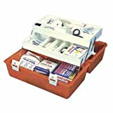 First Aid Case,Handle,Lock,11-Cmptmnt,2 Deep Trays,OE