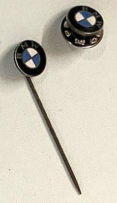 Generisch Bmw Anstecknadel Pin 2er Set Emblem Nadel Button Klein Symbol Marke Sammler Küche Haushalt