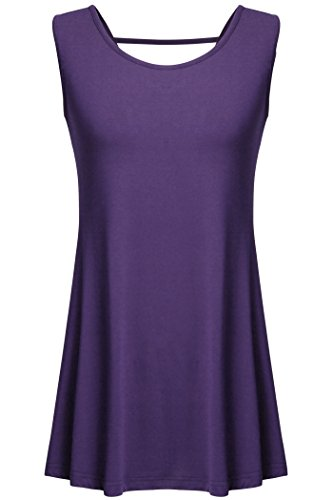 Tank Tops For Juniors,Tencole Women Comfy Soft Camisole Dressy Flare Purple XL (Sexy Plus Size Blazers)