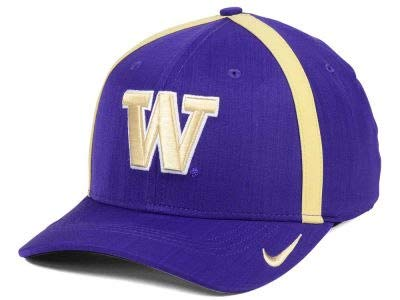 new product f2e43 b4c45 Image Unavailable. Image not available for. Color  Nike Washington Huskies AeroBill  Sideline Swoosh Coaches Performance Adjustable Hat. Click image to ...