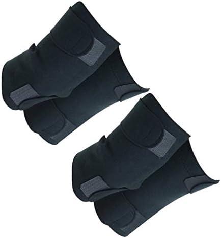 Supvox 2 Paar Knieorthese Selbsterhitzender magnetischer Kniebandagengürtel für die Wiederherstellung von Gelenkverletzungen bei Sportarthritis