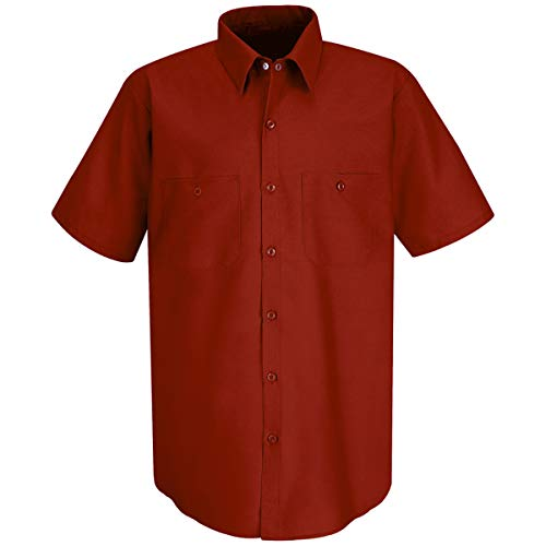 Red Kap Medium Red 4.25 Ounce Polyester/Cotton Shirt With Button Closure by BULWARKRED KAP (Image #1)