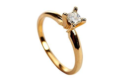 0.34 Ct Princess Diamond - 2