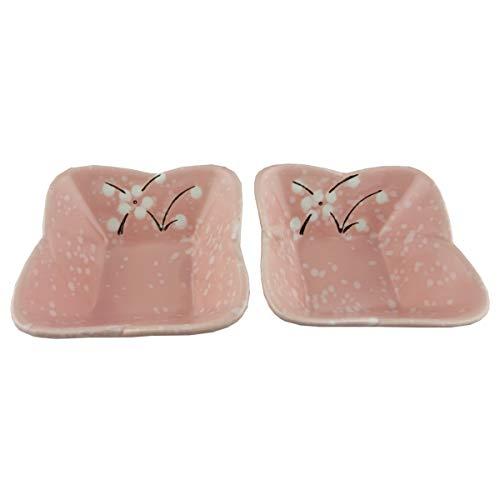 TRINITY Porcelain Design Snack Bowl Set of 2  Pink