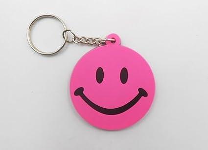 other Keychains llavero - Smiley - Pink - Fantasía - Goma ...