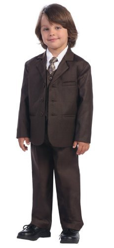 5 Piece Brown Suit with Shirt, Vest and Tie - Size 6 ()