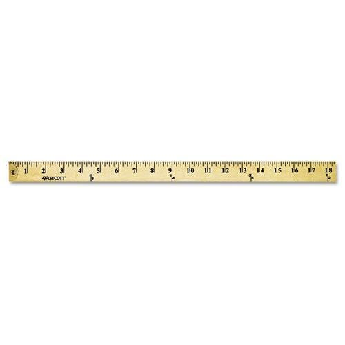 ACME MADE 10425 Wood Yardstick with Metal Ends, 36
