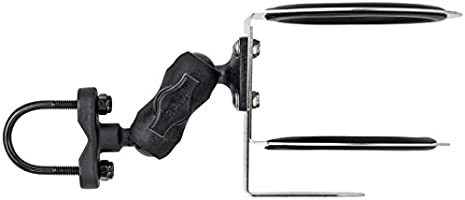 Motor Moxie Stainless Steel Motorcycle Handlebar Cup Holder with 1 Ram Mount Ball Plate fits 30 oz Tumblers