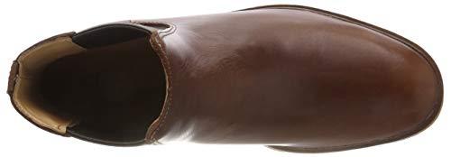 Clarks Mahogany Uomo Leather Chelsea Clarkdale Stivali Gobi Marrone SnqwYSr7