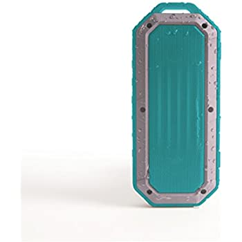iJoy Beach Bomb IP66 Waterproof Shockproof Portable Bluetooth Speaker With built in Mic Aux-In and 2,000mAh Battery - Mint (MNT)