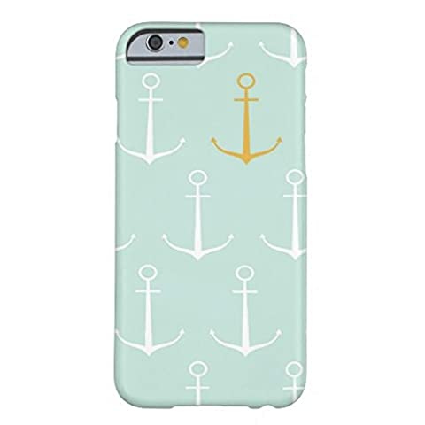 Iphone 6 Plus Case,Nautical Anchors Preppy Girly Blue Anchor Pattern Barely There Phone Case for Iphone 6 Plus (Iphone 4 Case Preppy)