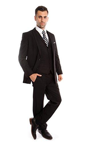 Mens Tuxedo Suits Luxurious 3 Piece Suit Set (34S, (Vested Tuxedo Suit)