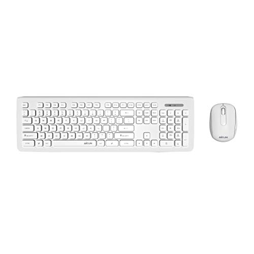 6a417e0885e Aikun BX6200 2.4Ghz Wireless Keyboard and Mouse Combo,Thin Profile Keyboard  and Sleek Mouse