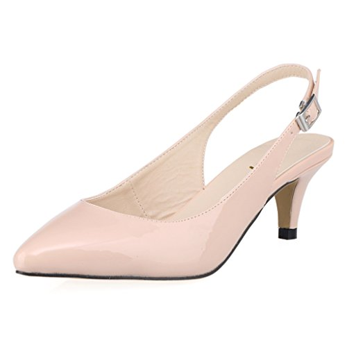 8cc2f85f2da free shipping ZriEy Elegance Women s Chic Charms Buckles Ankle Strap  Pointed Toe Thin Mid Heel Sandals