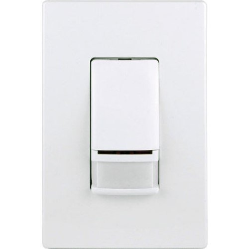 Cooper Controls OSW-P-0451-GERR7-R-W Greengate 24 VAC Low Voltage PIR Wall Switch, White Finish