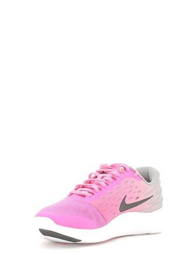 Nike Lunarstelos (gs) Gioventù Scarpe Da Corsa Rosa Esplosione / Nero-bianco