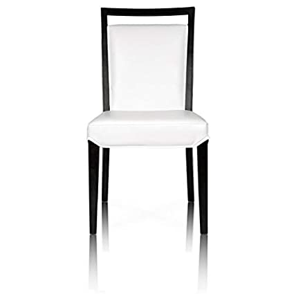 Surprising Amazon Com Maklaine Dining Chair In White Bonded Leather Spiritservingveterans Wood Chair Design Ideas Spiritservingveteransorg