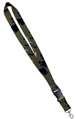 Moose Pet Wear Fashionable Lanyard - Satin Keychain Necklace, ID Badge Holder- 1 Inch, Camouflage