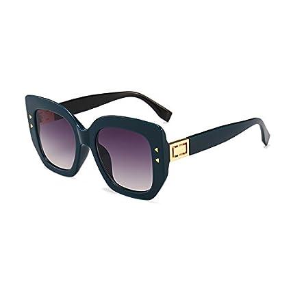 Burenqi@ Square Gafas de Sol Mujer Moda Hombre Negro del ...