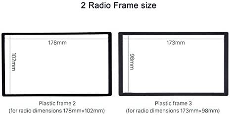 Radio Frame Cage for car stereo 100 mm with 2 fitting frames 6.2173x98 mm and 7 178x102 mm Universal Metal Dashboard Sound-way Double DIN Car Radio Installation Kit
