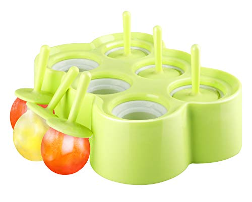 Gadget Tray - Nuovoware Ice Pop Molds, [Cavity of 6] Premium Silicone Popsicle Makers Ice Pop Makers Rectangle Ice Cream Tray Holders, Family DIY Popsicle Molds, BPA Free, Kitchen Gadget, Green