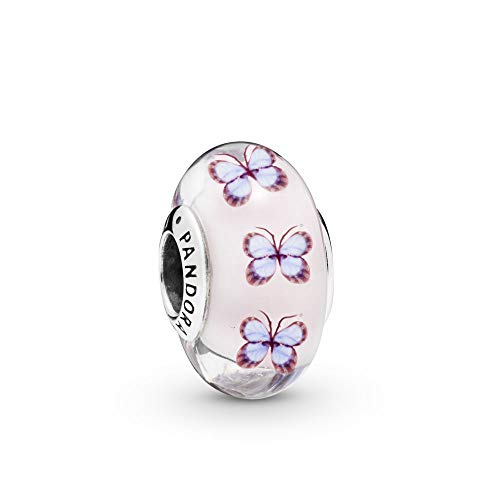 PANDORA Butterfly Glass 925 Sterling Silver Charm - 797893 (Authentic Pandora Murano)