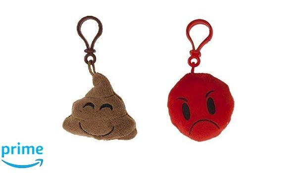 Icons - Pack 2 llaveros 8cm Emoticonos - Caca Marron smile + ...