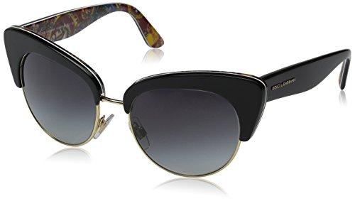 D&G Dolce & Gabbana Women's 0DG4277 Cateye Sunglasses, Top Black/Handcart, 52 - 2016 Sunglasses D&g