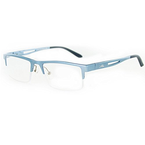 Alumni Optical Quality Reading Glasses with RX-Able Aluminum Frames for Youthful and Active Men and Women (Blue - Glasses For Nosepiece