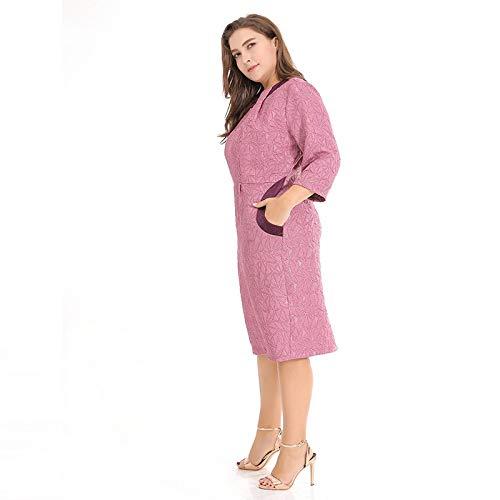 Rosa Vestido Xxl Color Puro Vestido De viajero Tdpyt Un Grande ZBwqPW8