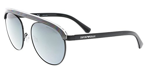 Emporio Armani EA2035 30146G Black EA2035 Round Sunglasses Lens Category 3 - Sunglasses Round Armani