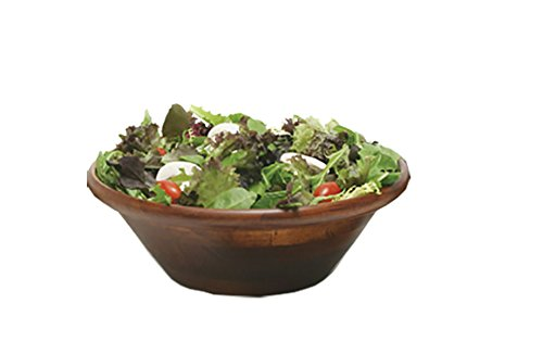 (Lipper International 290 Cherry Finished Round Rim Bowl for Salads or Fruit, 12