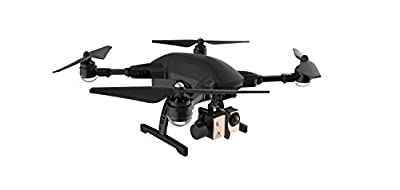 ONE EXTRA BATTERY/ FOUR EXTRA PROPELLER/ SimToo Dragonfly Pro Follow Me GPS Quadcopter FOLDED Drone with 4K Gimbal Camera, REMOTE CONTROLLER and RC Watch controller BLACK
